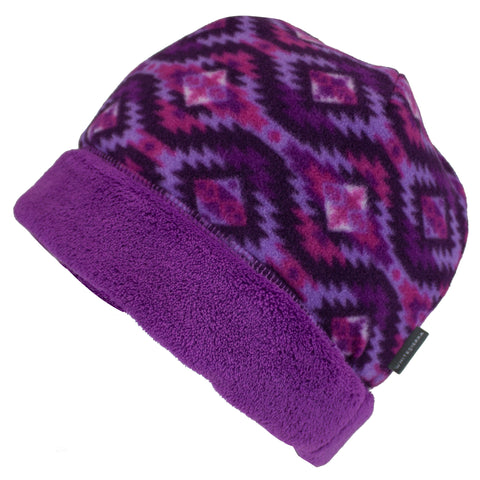 Girl's Cozy Reversible Fleece Beanie