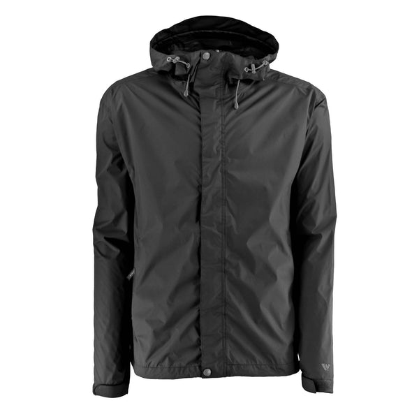 Black Rain Jacket with Back Vent