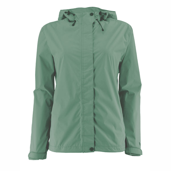 Women's Trabagon Rain Jacket - White Sierra - Fir