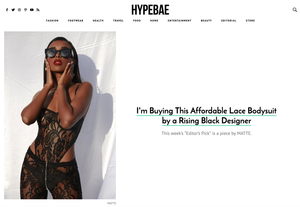 "Matte Brand Featured As ""Editor's Pick"" On HYPEBAE 🔥"