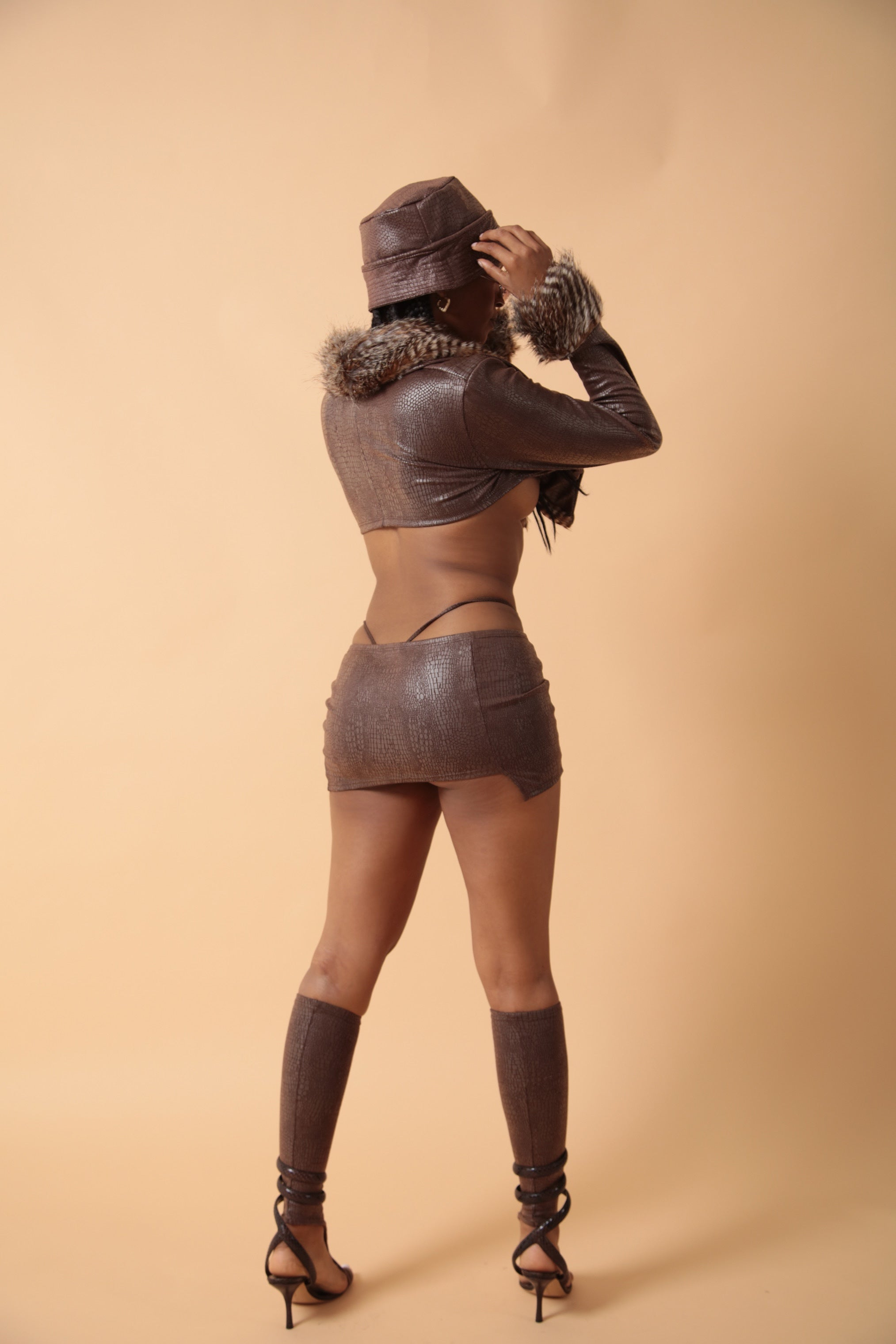 The SWV Mini Mini Skirt In Chocolate