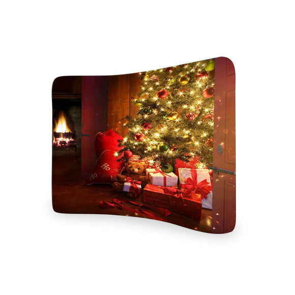 Christmas Tree CURVED TENSION FABRIC MEDIA WALL