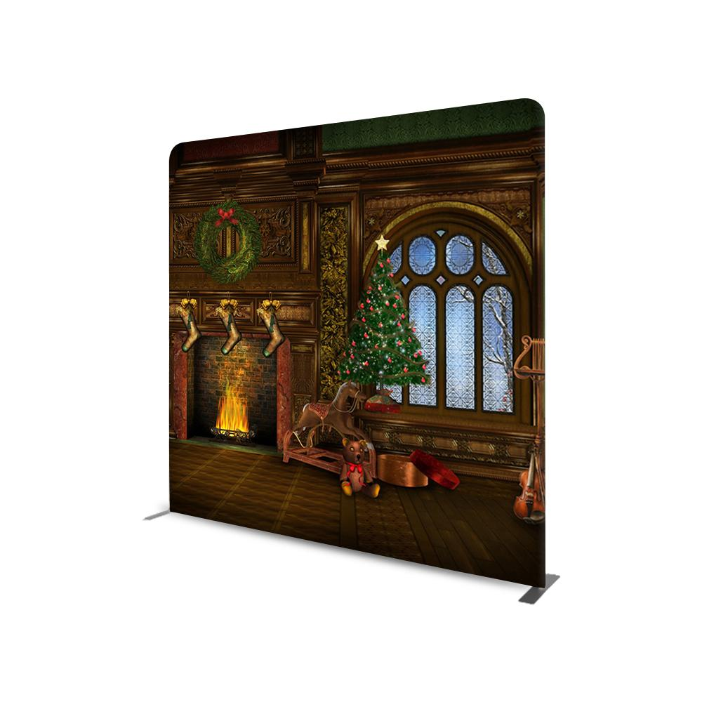 Christmas Photography Design STRAIGHT TENSION FABRIC MEDIA WALL