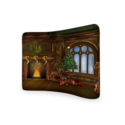 Christmas Photography CURVED TENSION FABRIC MEDIA WALL