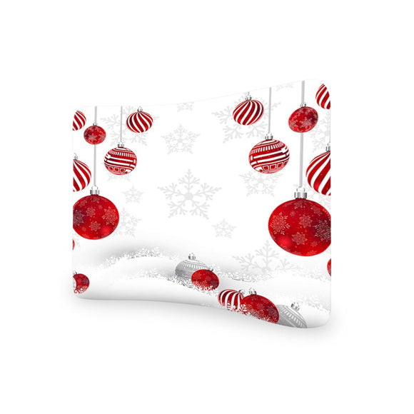 Christmas CURVED TENSION FABRIC MEDIA WALL