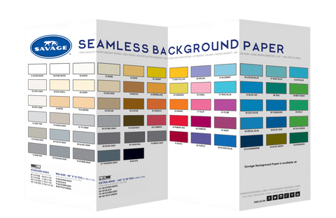 Sample colour chips - Savage Widetone Paper backdrops