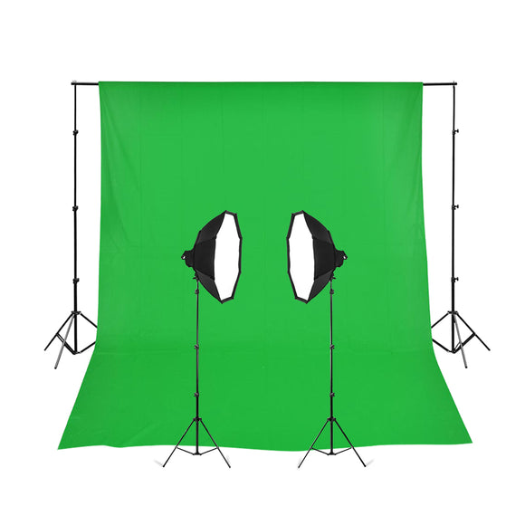 2 Head Powerful 5 Lamp Video Kit With Chromakey Backdrop