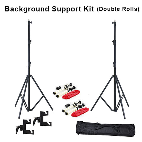 Backdrop Stand with Double Mount Chain Setup Adjustable Angle - (Support 2 Backdrops)