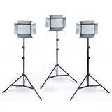 3 x 1000W Bright Bi-Colour LED Video Panel Light Kit with DMX Output