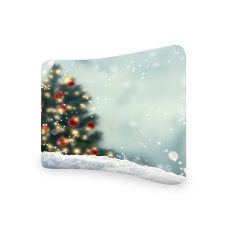 Snowy Blue CURVED TENSION FABRIC MEDIA WALL