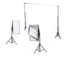 2 Head Continuous Softbox Studio Lighting Kit Equipment With Backdrop And Support System