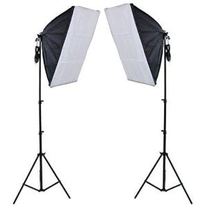 2 Head Continuous Economy Softbox Studio Daylight Equipment kit 3