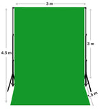 Chroma Key Green Screen Backdrop 3M X 4.5M With Stand