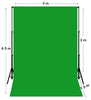 3m W x 4.5m H Chroma Key Green Muslin Backdrop with Backdrop Stand
