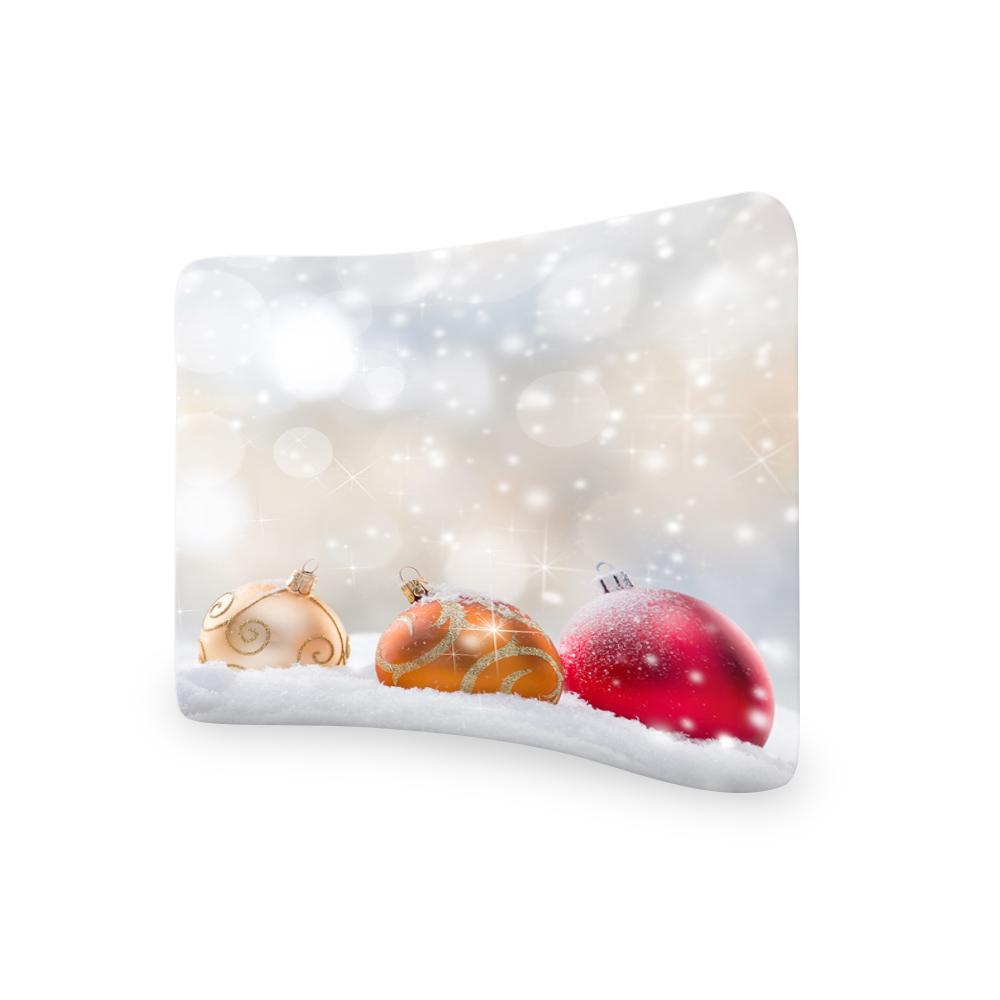 Abstract Christmas CURVED TENSION FABRIC MEDIA WALL