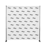 Portable Fabric Backdrop Media Wall with Adjustable Stand
