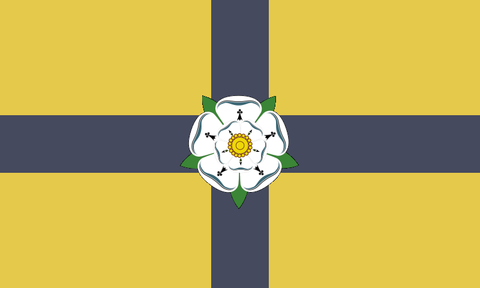 North Yorkshire County Flag in TrueKolor Wrinkle Free Fabric