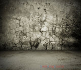 Grey Patched Wall Floor Print Photography Backdrop