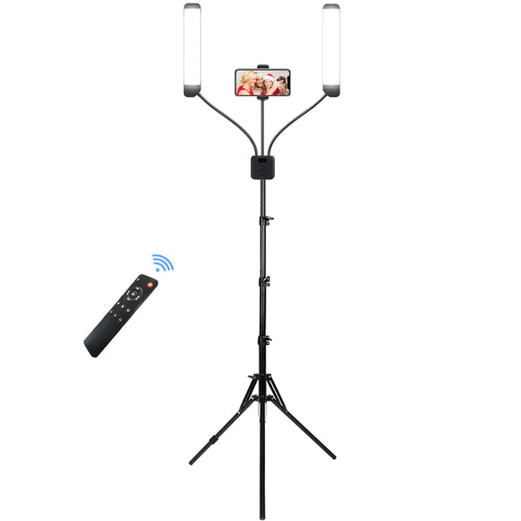 60W Dimmable Led Fill Video Ring Light with Dual Arms