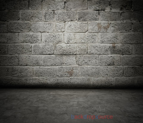 Hollow Block Wall Floor Print Photography Backdrop