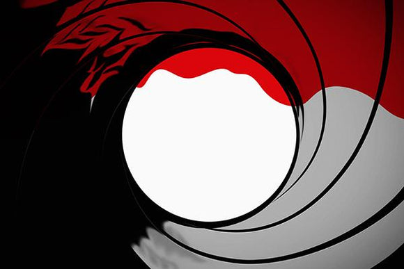 James Bond 007 Gun Barrel Target Backdrop
