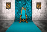 King Royal Throne Print Photography Backdrop