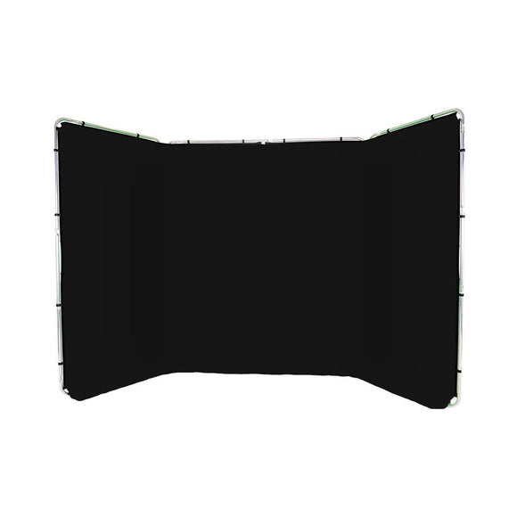 Panoramic Background Black 4m wide