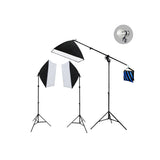 3 Head Professional Video Softbox Quartz Light Kit (3000W)