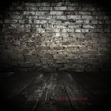 Patched Brick Wall Floor Print Photography Backdrop