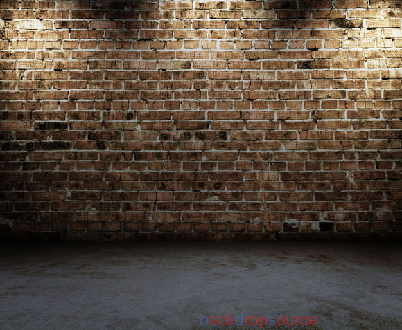 Redwood Brick Wall Print Photography Backdrop