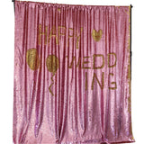Rose Gold Mermaid Sequin Backdrops (Photo booth backdrops that help you win hearts)