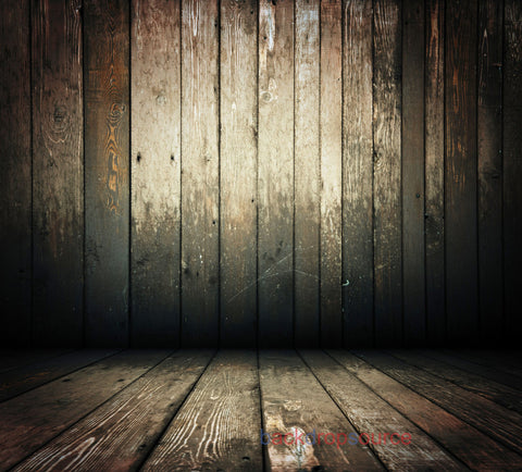 Sepia Wood Warped Baseboard Print Photography Backdrop