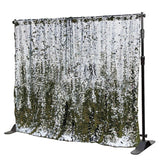 Shiny Silver Mermaid Sequin Backdrops (Photo booth backdrops that help you win hearts)
