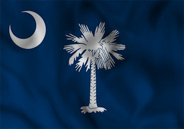 South Carolina State Flag in TrueKolor Wrinkle Free Fabric