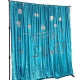 Tiffany Silver Mermaid Sequin Backdrops (Photo booth backdrops that help you win hearts)