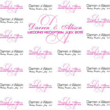 Customized Wedding Background Banner - Image 2