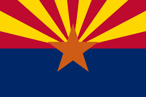 Arizona State Flag in TrueKolor Wrinkle Free Fabric