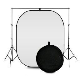 Black and White Reversible Photography Backdrop with Portable Stand 3m x 3m