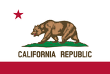 California State Flag in TrueKolor Wrinkle Free Fabric