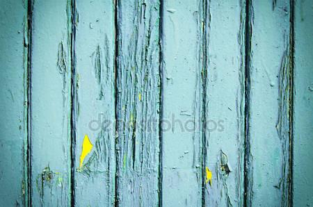 Blue Weathered Wooden Planks Print Photography Backdrop