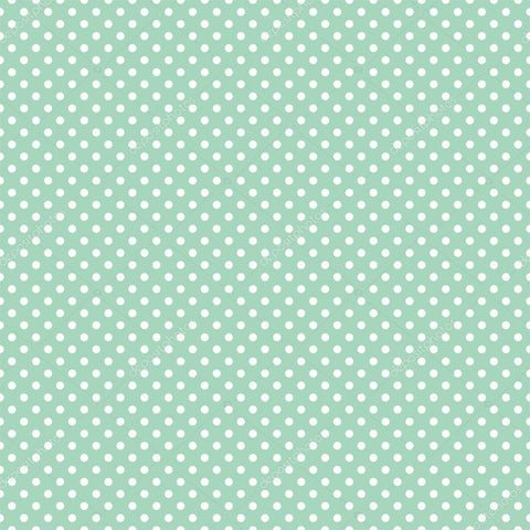Mini Polka Dots on Mint Green Print Photography Backdrop