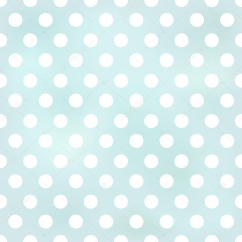 Light Blue Seamless Polka Dots Print Photography Backdrop