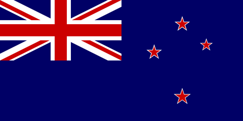 New Zealand Country Flag in TrueKolor Wrinkle Free Fabric