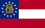 Georgia State Flag in TrueKolor Wrinkle Free Fabric