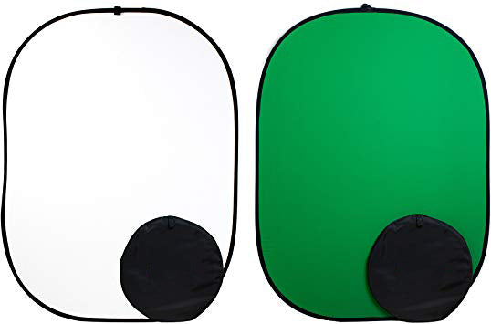 Reversible Chromakey Green And White Popup Backdrop 1.5m x 2.1m