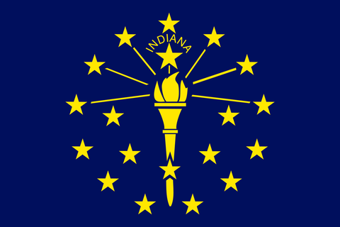 Indiana State Flag in TrueKolor Wrinkle Free Fabric