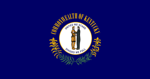 Kentucky State Flag in TrueKolor Wrinkle Free Fabric