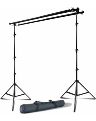 Portable Backdrop Stand with Triple Mount - ( Support 3 Backdrops Parallel)
