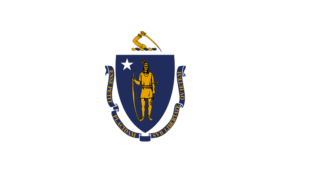 Massachusetts State Flag in TrueKolor Wrinkle Free Fabric