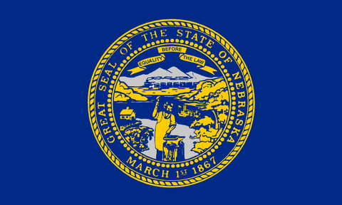 Nebraska State Flag in TrueKolor Wrinkle Free Fabric